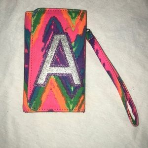 """Initial """"A"""" Multicolored Wallet"""